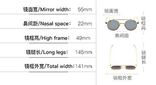 Gafas De Gafas Marcos Retro Lens Estilo Redondas Puente Sol Flat Gafas Sol Box Optical De Colorido Silver Nasal WHLDK Con Metálicos fwd5qfO