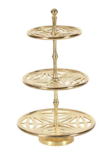 Deco 79 Aluminum 3-Tier Tray Stand, - Aluminum Tier Stand