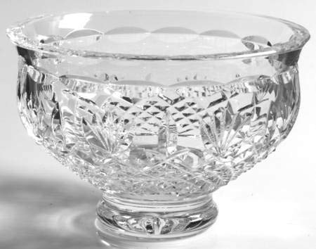 WATERFORD KILLARNEY CRYSTAL FOOTED BOWL 6 1/8