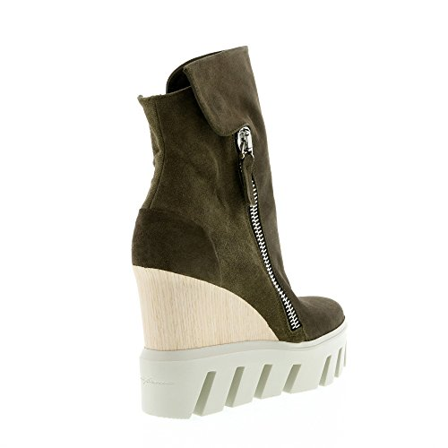 Frankie Stern Oliva Oliva Suola Zeppa Sneaker Boot Oliva