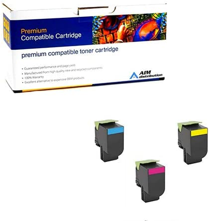 NO. 701H - Generic AIM Compatible Replacement for Lexmark CS-310//410//510 High Yield Toner Cartridge Combo Pack C//M//Y 70C2HCMY