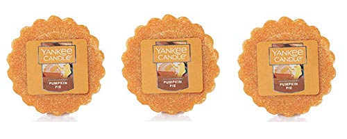 Yankee Candles Lot of 3 Pumpkin Pie Tarts Wax Melts ()