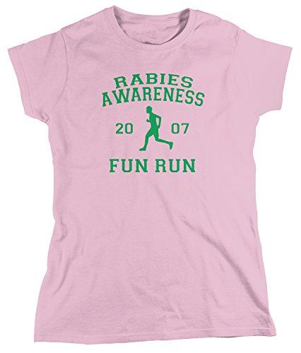 Amdesco Women's The Office Rabies Awareness Fun Run 2007 T-Shirt, Light Pink Medium