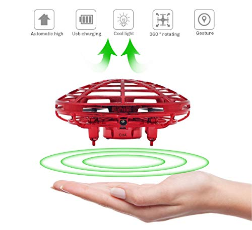 Richboom Hand Controlled Mini Drone for Kids Adults Boys Girls Gifts, Red