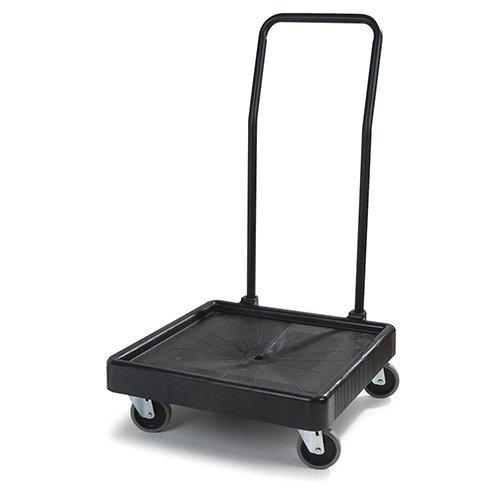 (Carlisle C2236H03 Universal Warewashing Rack Dolly with Handle, 350 lb Capacity, Black)