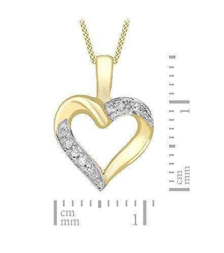 Carissima Gold - Collier Femme avec pendentif - 1.44.2264 - Coeur - Or jaune (9 Cts) 1.49 Gr - Diamant