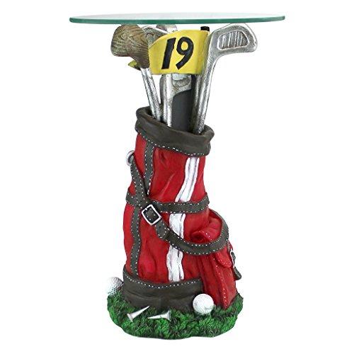 (Design Toscano On Par Golf Bag Sculptural Glass-Topped)