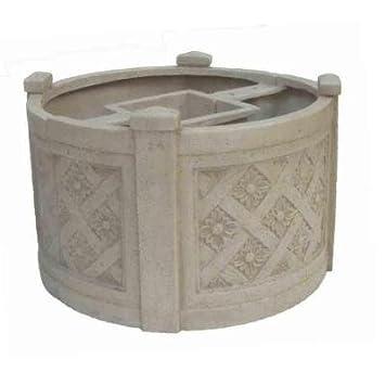 Amazon Com 18 In Dia White Cast Stone Mailbox Planter Garden