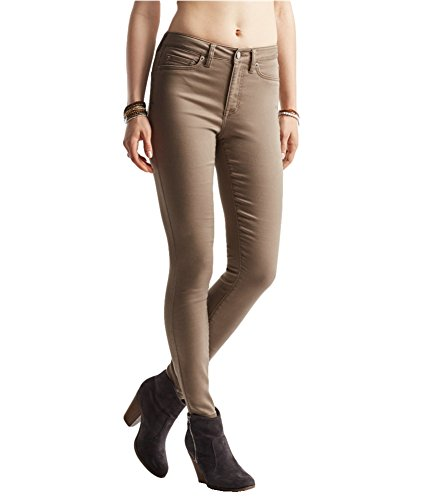 Aeropostale Womens High Waisted Jeggings, Brown, 00 - Jeans Spandex Aeropostale