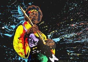 Jimmy Hendrix – Guitarra clásica Pose – A4 Póster: Amazon.es: Hogar