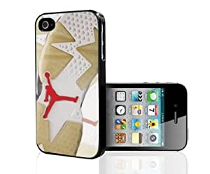 "Tan White and Red Designer Shoe ""Carmine 6's"" Foot Print Hard Snap on Phone Case (iPhone 5/5s) by icecream design"