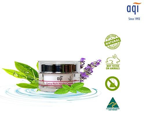 Night Cream for Dry Skin 1.7 fl oz - Anti Aging & Anti Wrinkle Face Moisturizer - Hydrating & Nourishing Repair Cream for Men & Women - Paraben & Sulfate Free - Made in Australia By AQI