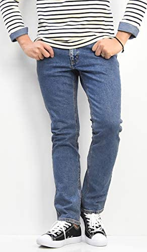 すっきりストレート デニム メンズ ジーンズ パンツ ストレッチ素材 デニムパンツ 定番 WM3902