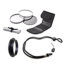 Sony Cyber-shot DSC-RX100 II High Grade Multi-Coated, Multi-Threaded, 3 Piece Lens Filter Kit (52mm) Made By Optics + Filter Adapter + Krusell Multidapt Neck Strap + Nwv Direct Microfiber Cleaning Cloth