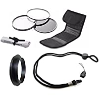 Canon PowerShot SX420 IS High Grade Multi-Coated, Multi-Threaded, 3 Piece Lens Filter Kit (52mm) + Lens/Filter Ring + Krusell Multidapt Neck Strap + Nw Direct Microfiber Cleaning Cloth