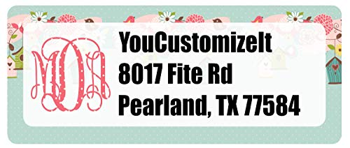 (Easter Birdhouses Return Address Label (Personalized))
