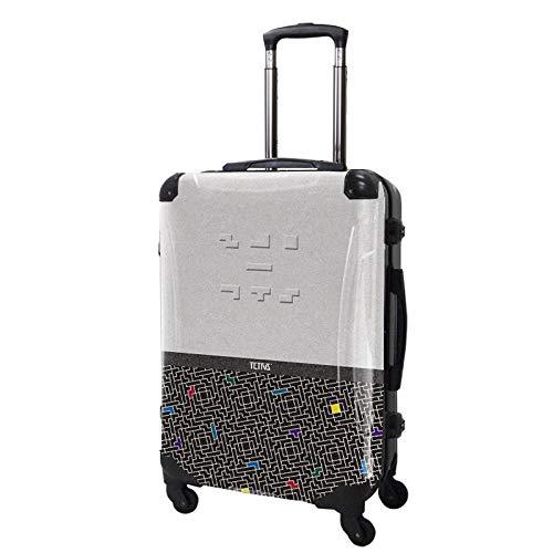 [キャラート] スーツケース スカラー レディース フレーム 4輪 63L TSAロック 保証付 68 cm 4.1 kg CR-A03H  テトリス ツートン (ホワイト) B07JVCJ4NP