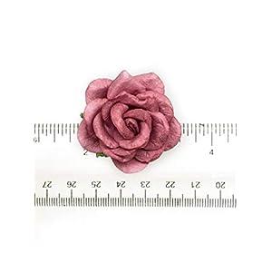"1.5"" Mauve Paper Flowers, Mulberry Paper Flowers, Mulberry Paper Roses, DIY Wedding, Flower Backdrop, Blush Wedding, DIY Wedding Favors, 12 Pieces 8"