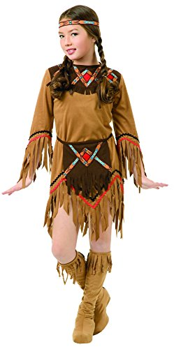 Charades Child's White Dove Native American Girl Costume, NA, Small