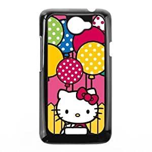 HTC One X Cell Phone Case Black Hello Kitty Balloon Fence LV7925812