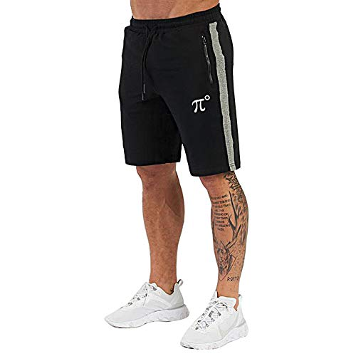 "PIDOGYM Men's 7"" Workout Running Shorts,Jogging Shorts for Gym Yoga Training Bodybuliding with Zipper Pockets"