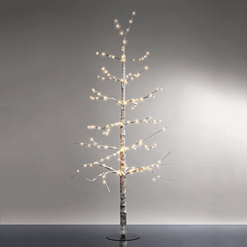 4 Ft. Flocked Snow Lighted Tree with 228 Warm White LEDs | Indoor Use, Pre-Lit Decorative Christmas Tree, UL - Flocked Lit Christmas Tree Pre