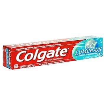 Amazon com: Colgate Luminous Fluoride Toothpaste, Crystal