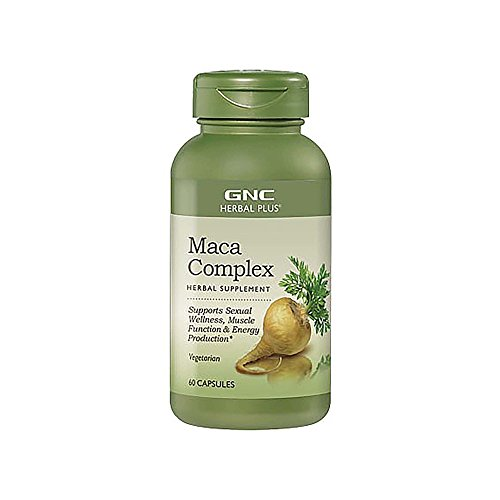 GNC Herbal Plus Maca Complex, 60 Capsules, Supports Sexual Wellness ()
