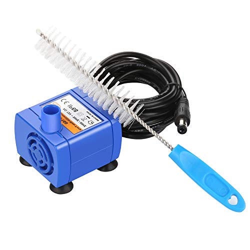 OWNPETS Brush Cleaning&Water Pump Kit for Pet Drinking Dispenser Cat and Dog Water Fountain, AC 12v~50HZ/60HZ,Suitable for ()