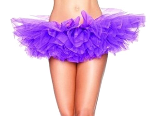 Ballet Costume Design School (Codyna Women's Teen Adult Elastic Tutu Skirt [ 5 Layered ] Adult Dance Skirt Costume (Purple))