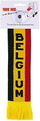 Amazon.es: TRUCK DUCK® Camiones Auto Mini - Belgium Bélgica Mini - Banderín Bandera ventosa Espejo Decoración