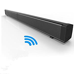 Maxmore Latest Sound Bar 40W Home Theater Speaker 31.5 Inch Loud Sound Bluetooth Speaker Wired/TF Card Universal For TV/PC/iPad/Cellphone Supports Multiple Connections