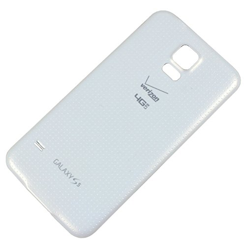 RBC Battery Back Door Cover Replacement For Samsung Galaxy S5 G900V Verizon - Shimmery White ()