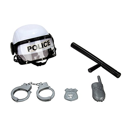 WGS Kids Pretend Role Play Combat Police Costume Helmet and Accessories Play -