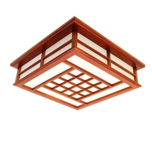 - Chinese wooden ceiling lamp modern LED energy saving living room ceiling light, home bedroom dining room aisle lighting chandelier