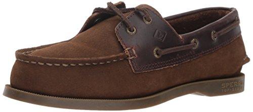 (Sperry Top-Sider Boys' Authentic Original Boat Shoe, Brown Buck, 6.5 Medium US Big Kid)