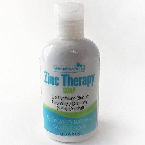 DermaHarmony 2% Pyrithione Zinc (ZnP) Liquid Castile Soap (4 Fl Oz Bottle)