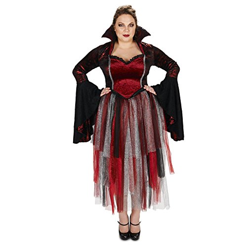 Royal Red Goth Queen Adult Plus Costume 1X (Queens Gown Adult Costume)
