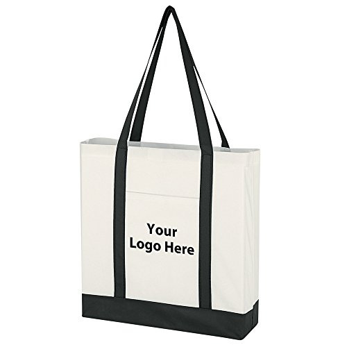 - Non-Woven Tote Bag With Trim Colors - 100 Quantity - $1.95 Each - PROMOTIONAL PRODUCT/BULK/BRANDED with YOUR LOGO/CUSTOMIZED