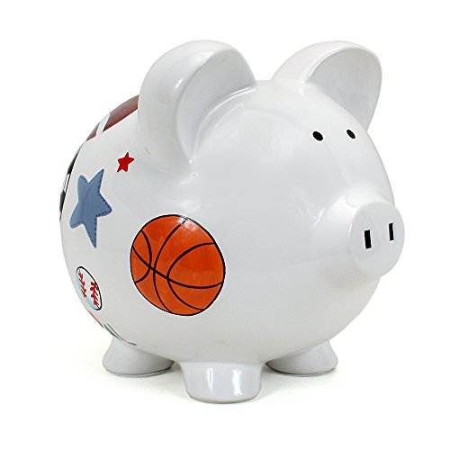 Child to Cherish Ceramic Piggy Bank for Boys, Sports