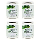 Algeloe-O Organic Aloe Vera Gel 99% Pure Natural made with USDA Certified Aloe Vera Powder Paraben, sulfate free with no added color 500ml/16.9oz. Pack Of 4