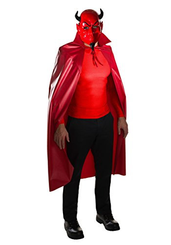 [Rubie's Men's Scream Queens Devil Mask and Cape Set, Red, One Size] (Dazzling Devil Costumes)