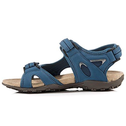 Sandalias Sandal D1125C05415C9999 Strel para de Geox Denim Donna vestir mujer q6vIxwpSA