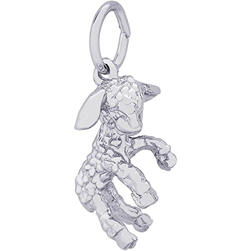 Rembrandt Charms Sterling Silver Lamb Charm (11 x 16.5 mm)