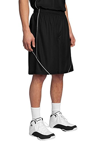 Sport-Tek Men's PosiCharge Mesh Reversible Spliced Short XL Black