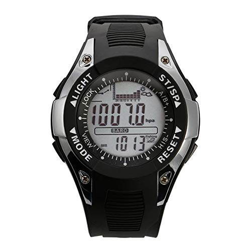 SunRoad Men's Sports Altimeter Barometer Digital Waterproof Wristwatch (Sliver)