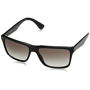 Prada Men's 0PR 19SS Black/Grey Gradient