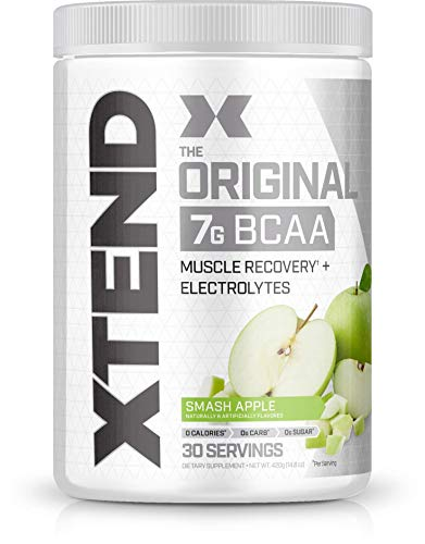 Scivation Xtend BCAA Powder, 7g BCAAs, Branched Chain Amino Acids, Keto Friendly, Smash Apple, 30 Servings