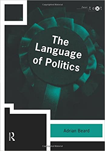 adrian beard the language of politics pdf