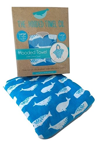 Super Soft And Thick Kids Hooded Poncho Towel For Boys And Girls Aged 1-10 years Large And Small Sizes Ideal from Beach Time To Bath Time (Cool Blue, Small (0-5yrs))